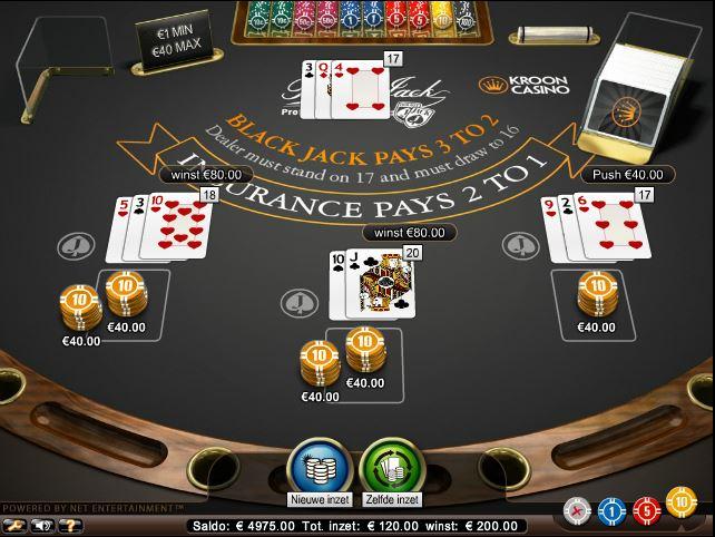 online gokken op blackjack